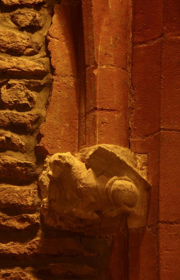 [Chapelle Saint-Fortunat, culot Saint-Luc]