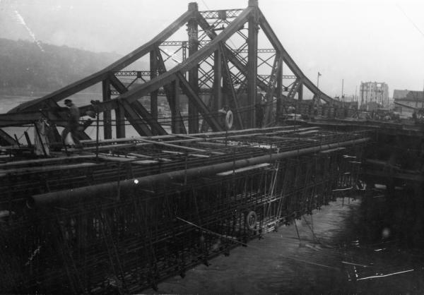 Pont et viaduc de la Mulatière sur la Saône