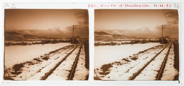 Route d'Hauteville, par la neige