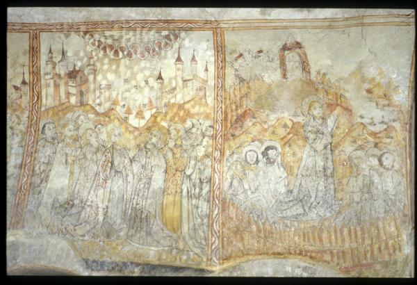 [Fresque,église de Saint-Maurice de Goudrans]