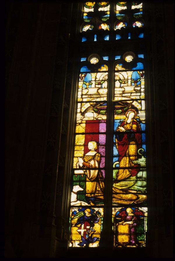 [Bourg-en-Bresse (Ain) : monastère royal de Brou, vitrail]
