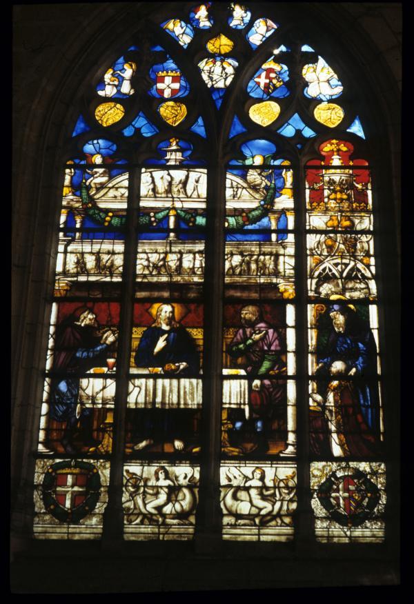 [Vitrail, monastère royal de Brou, Bourg-en-Bresse]