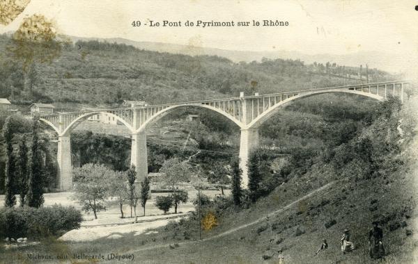 Le Pont de Pyrimont sur le Rhône.