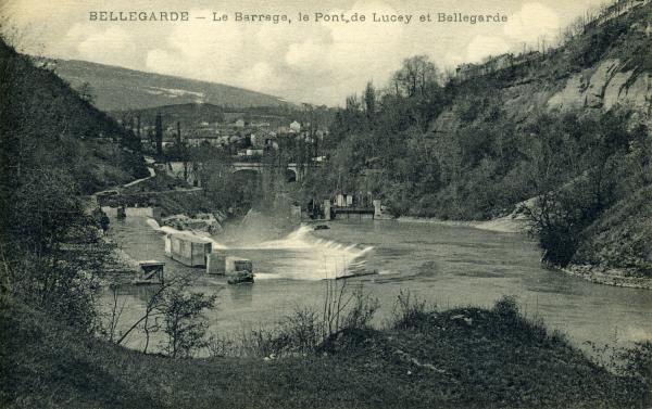 Bellegarde - Le Barrage, le Pont de Luçey et Bellegarde.