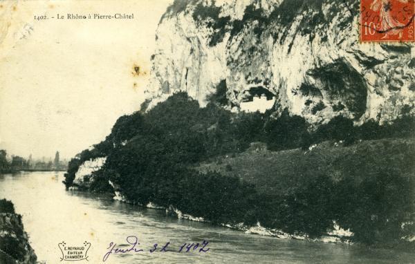 Le Rhône à Pierre-Châtel.