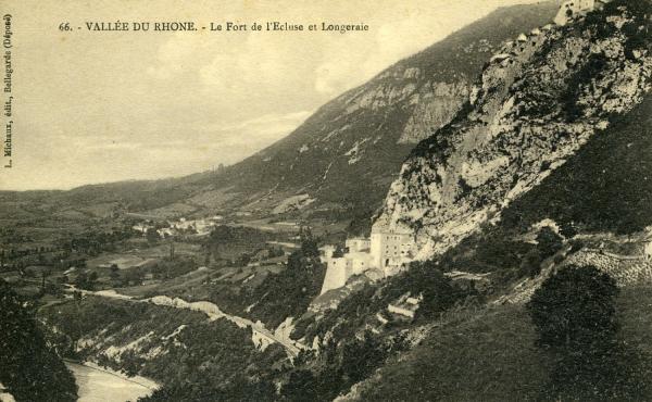 Vallée du Rhône. - Le Fort de l'Ecluse.