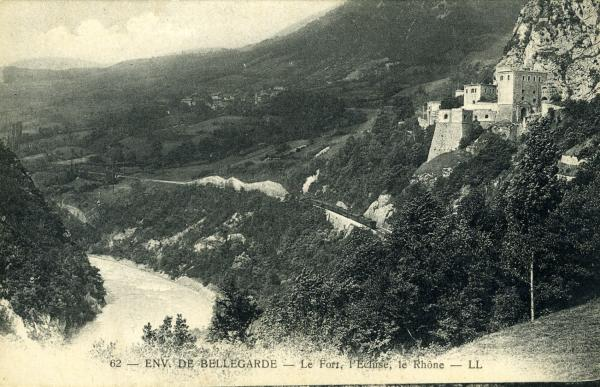 Env. de Bellegarde - Le Fort, l'Ecluse, le Rhône.