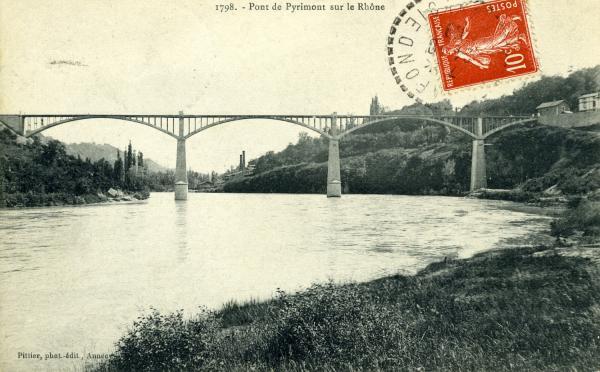 Pont de Pyrimont sur le Rhône.