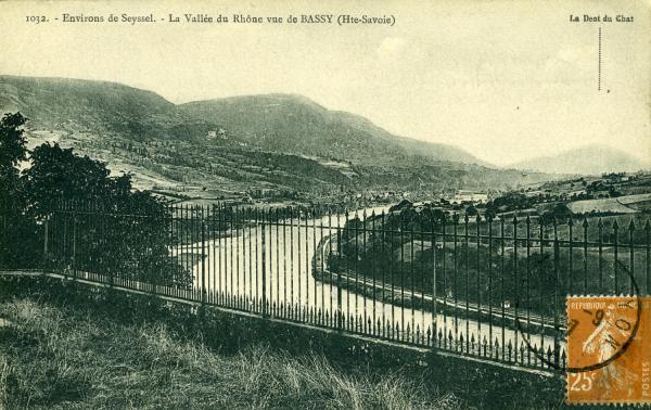 Environs de Seyssel. - La Vallée du Rhône vue de BASSY (Hte-Savoie)