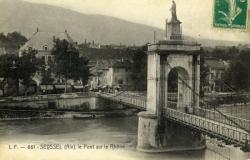 SEYSSEL (Ain), le pont sur le Rhône