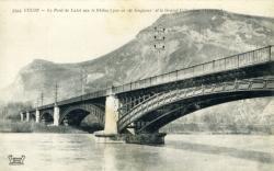 CULOZ - Le Pont de Laloi sur le Rhône (300 m de longueur et le grand Colombier (1534 m.)