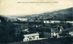 Panorama de SEYSSEL (Ain et Haute-Savoie) - Le Rhône
