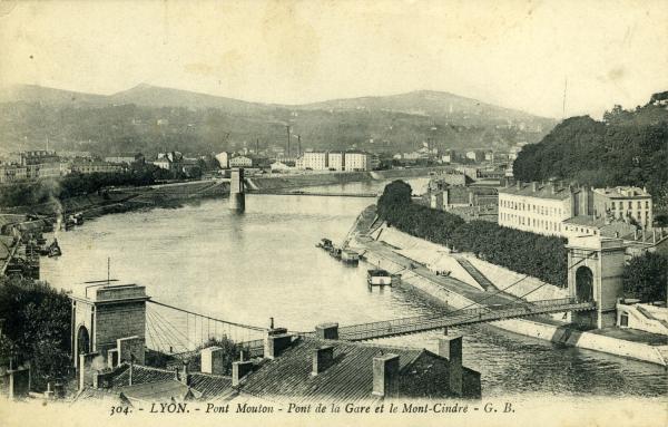 Lyon. - Pont Mouton - Pont de la Gare et le Mont-Cindre