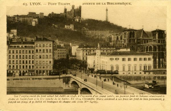 Lyon - Pont Tilsitt, l'Avenue de la Bibliothèque.