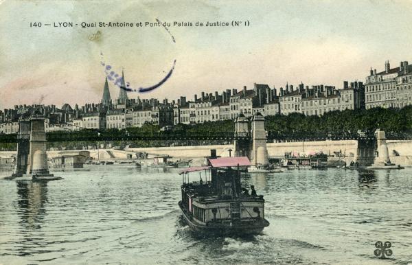 Lyon - Quai St-Antoine et Pont du Palais de Justice