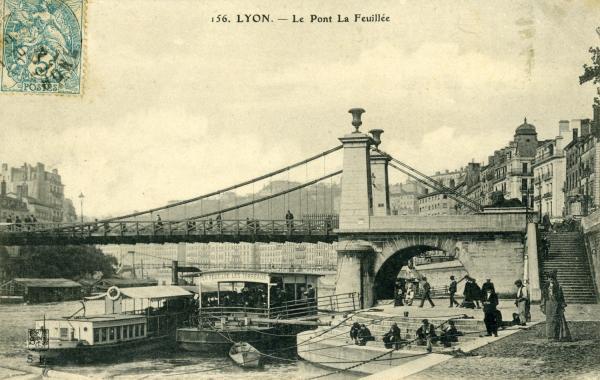 Lyon. - Le Pont de la Feuillée