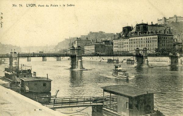 Lyon. Pont du Palais s. la Saône