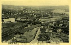 Givors (Rhône) - La Gare - Les Voies - Les Usines - La Vallée du Rhône