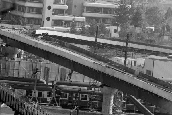 [Construction du viaduc de la gare de Vaise]