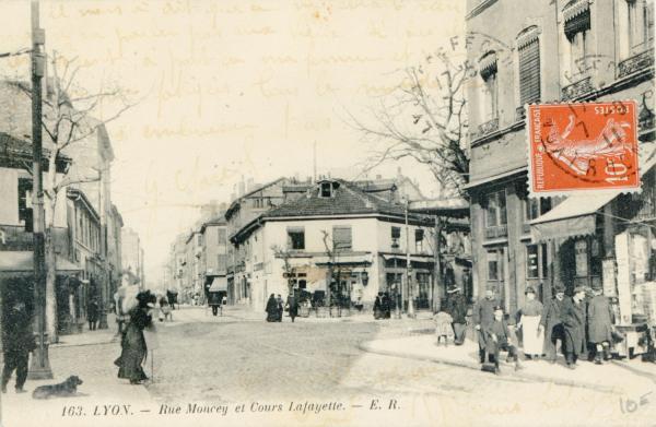 Lyon : Rue Moncey et Cours Lafayette.