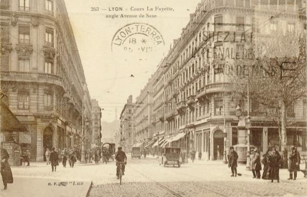 Lyon : Cours La Fayette ; angle Avenue de Saxe.