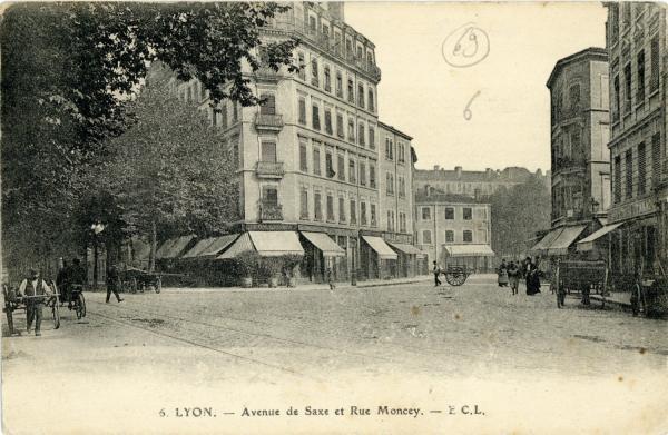 Lyon : Avenue de Saxe et Rue Moncey.