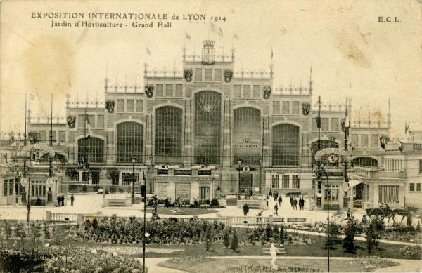 Exposition internationale de Lyon 1914 ; Jardin d'Horticulture ; Grand Hall.
