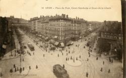Lyon : Place du Pont ; Cours Gambetta et Cours de la Liberté.