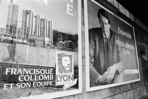 [Affiche des candidats pour les éléctions municipales de 1989]