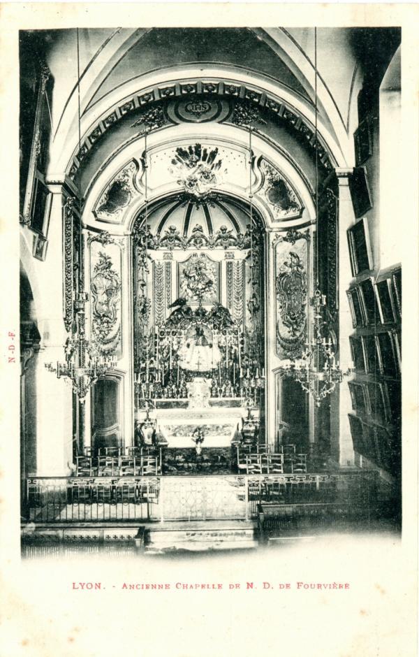 Lyon : Ancienne Chapelle de N.D. de Fourvière.