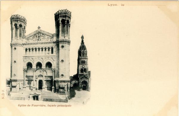 Eglise de Fourvière : Façade principale.
