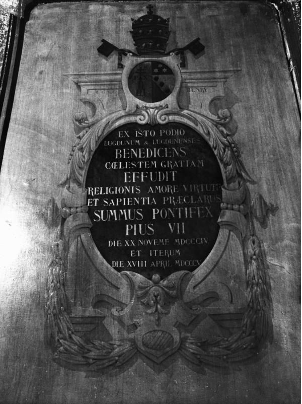 [Bénédiction de Lyon par le Pape Pie VII (20 novembre 1804)]