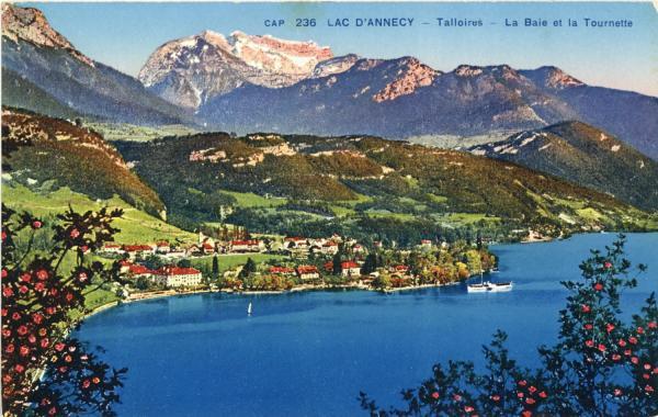 Lac d'Annecy : Talloires ; La Baie et la Tournette.
