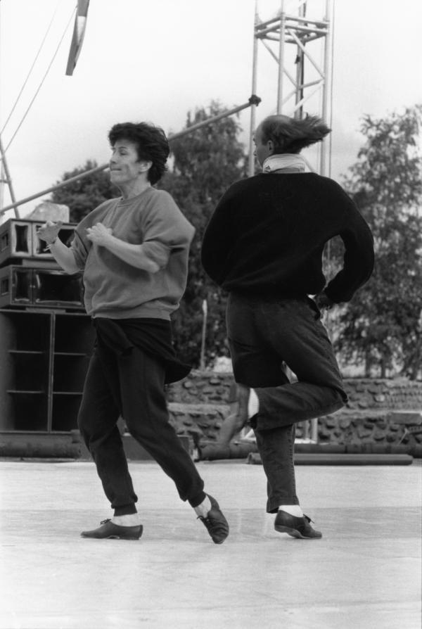 """[3e Biennale de la Danse de Lyon (1988) : répétition pour """"Mammame"""", de Jean-Claude Gallotta]"""