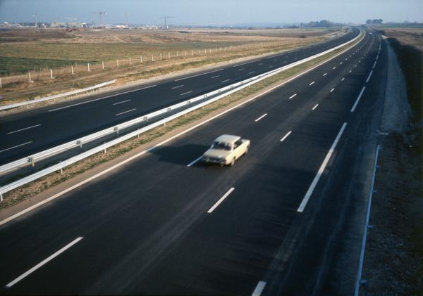 [L'autoroute A43 à Saint-Priest (Rhône)]
