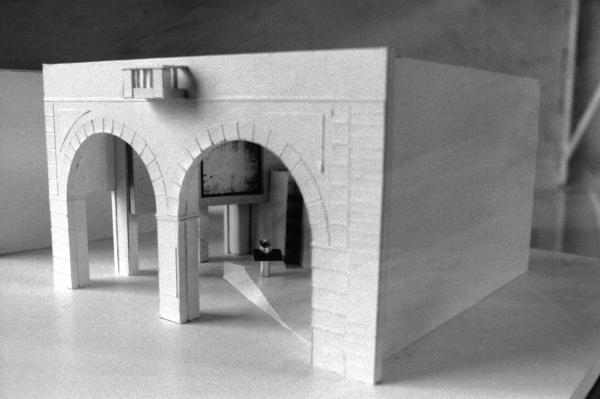 [Maquette du local d'information archéologique de la gare du funiculaire Saint-Just - Saint-Jean]