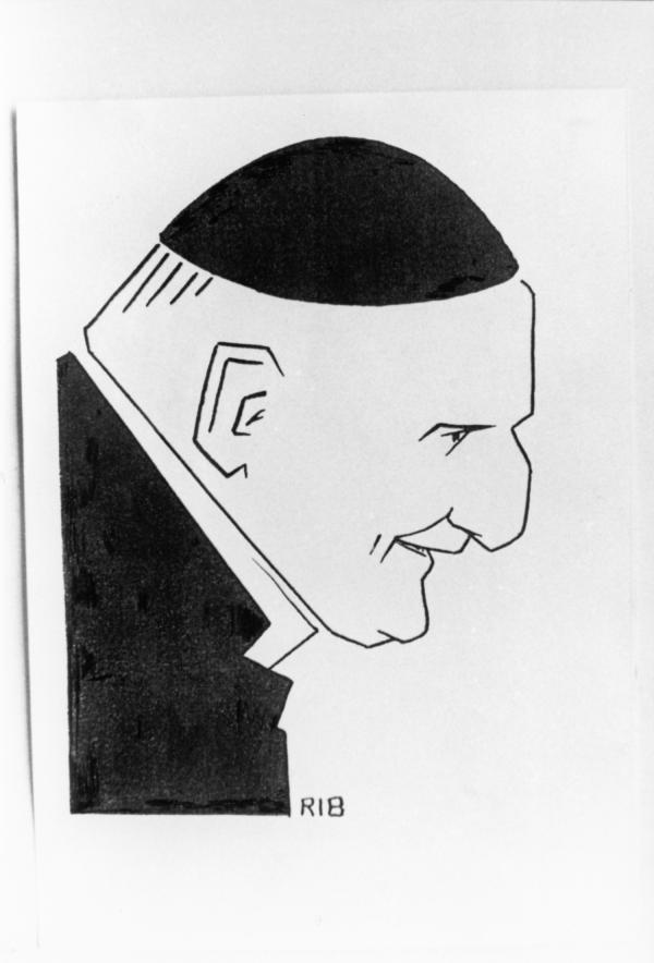 [Pierre-Marie Gerlier, archevêque de Lyon (d'après un dessin de Rib)]