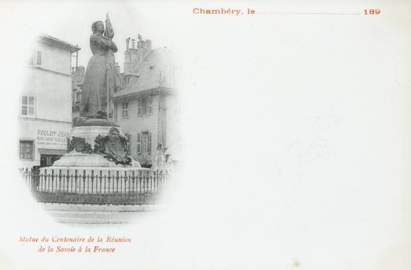 Statue du Centenaire de la réunion de la Savoie à la France