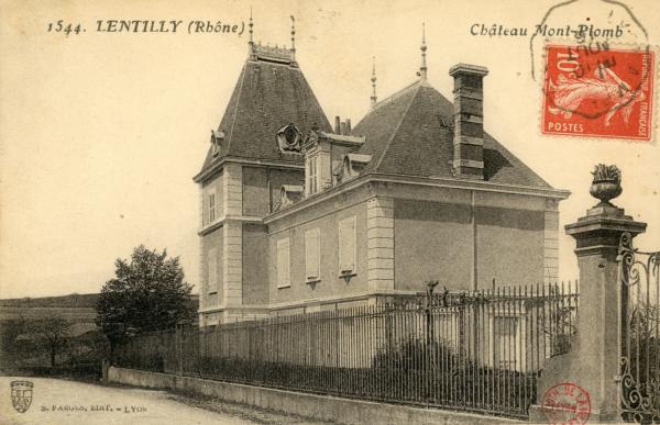 Lentilly (Rhône). - Château Mont-Plomb