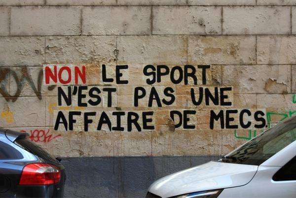 "Collage féministe, collectif ""Collages féministes Lyon"", rue Neyret, Lyon 1er"