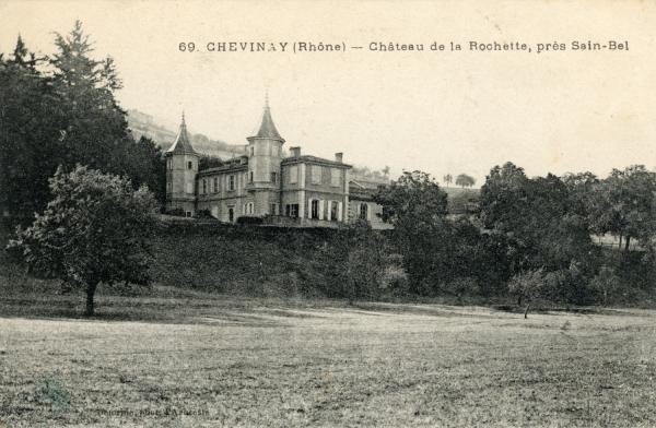 Chevinay (Rhône) : Château de la Rochette, près Sain-Bel