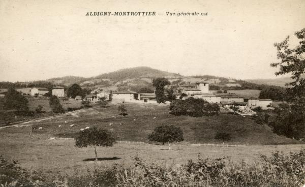 Albigny-sur-Saône (Rhône) : Vue générale Est