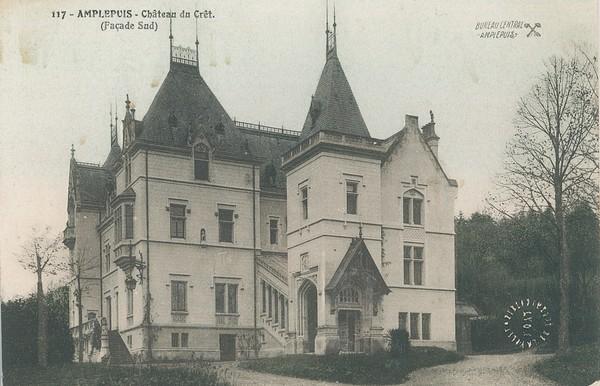 Amplepuis (Rhône) : Château du Crêt (façade Sud)