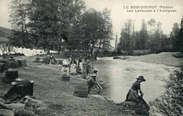 Bois d'Oingt (Rhône) : Les laveuses d'Azergues