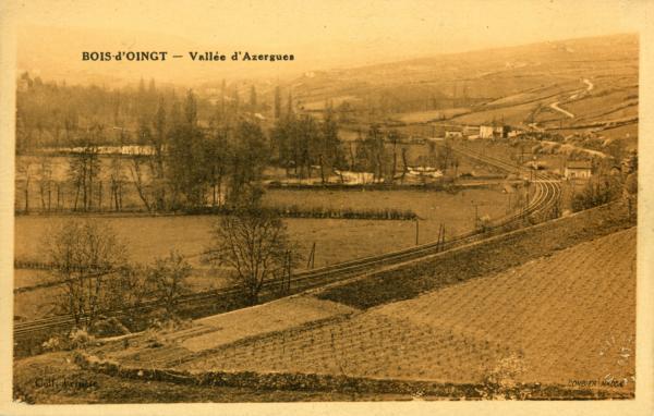 Bois d'Oingt (Rhône) : Vallée d'Azergues