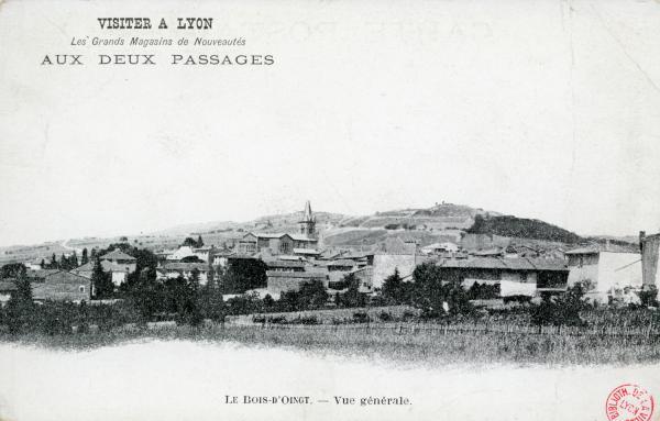 Bois d'Oingt (Rhône) : Vue générale