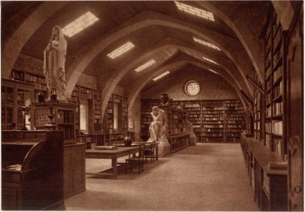 Abbaye N.-D. d'Aiguebelle : La Bibliothèque (Dortoir des Convers au XIIe s.)