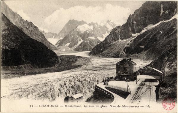 Chamonix : Mont-Blanc ; La Mer de Glace ; Vue de Montenvers