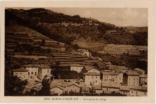 Albon-d'Ardèche - Une partie du village