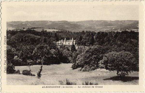 Alboussière (Ardèche) - Le château de Crozat